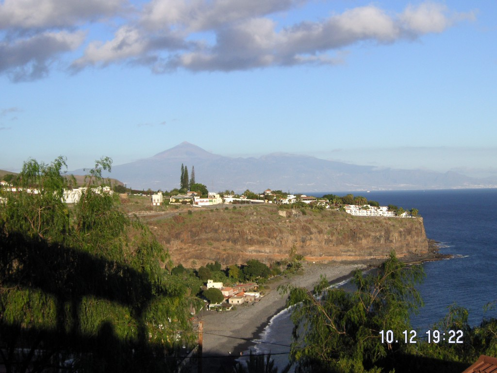 La Gomera, Blick auf Teide, Teneriffa