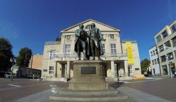 Goethe-Schiller-Denkmal in Weimar - Thüringen