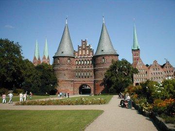 Holstetor in Lübeck, Schleswig-Holstein, Deutschland