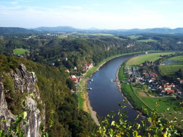 Elbe Sächsische Schweiz, Sachsen, Deutschland