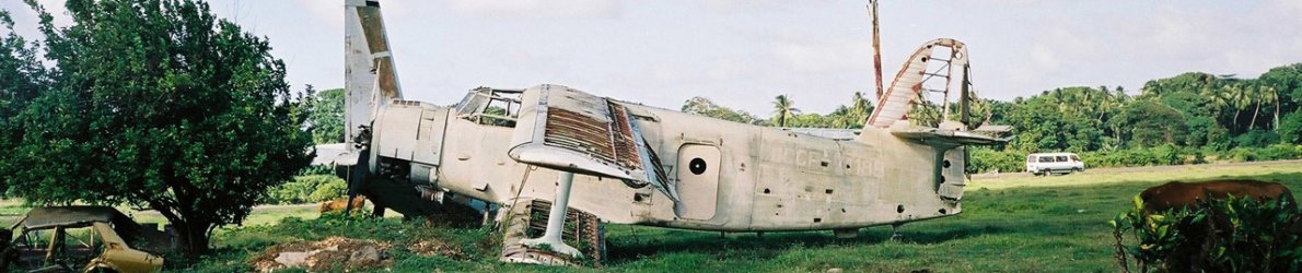 Crashed airplane, Grenada, Karibik