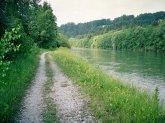 Isar am Ickinger Wehr, Richtung Wolfratshausen