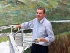 Peter Lindenberg malt Sylt