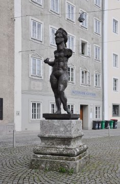 Mozart-Skulptur Markus Lüpertz, Salzburg, Österreich