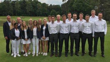 Damen- und Herrenmannschaft vom Golfclub Hubbelrath