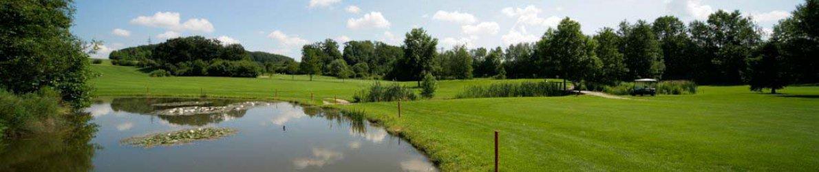 Golfclub Gut Rieden, Bayern, Am Starnberger See, Fairway am Biotop