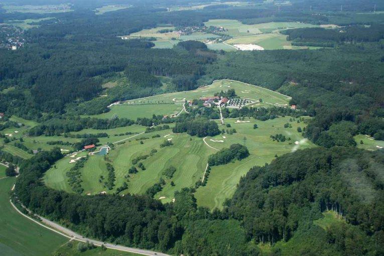 Golfclub Gut Rieden, Bayern, Am Starnberger See, Luftaufnahme