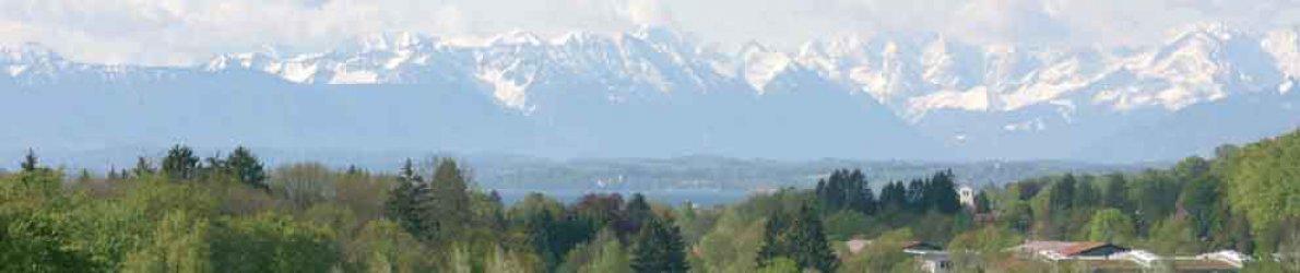 Golfclub Gut Rieden, Bayern, Am Starnberger See, Alpenblick
