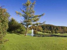 Golfclub Gut Rieden, Bayern, Am Starnberger See, Fontäne