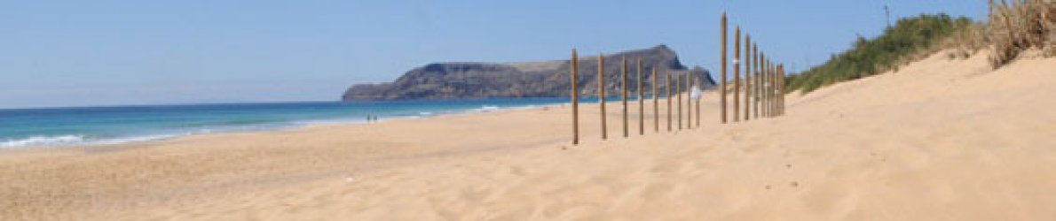 Strand von Porto Santo, Portugal