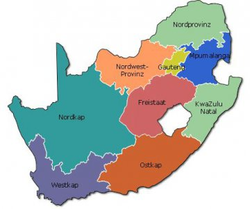 Provinzen von Südafrika
