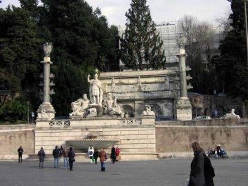 Piazza del popolo, Brunnen