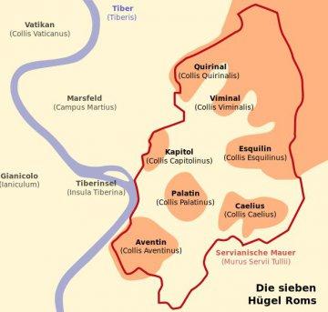 Die sieben Hügel von Rom