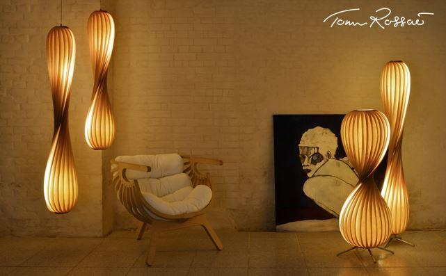 stilbasis, Holzleuchten von Tom Rossau