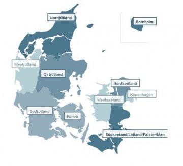 Regionen, Dänemark