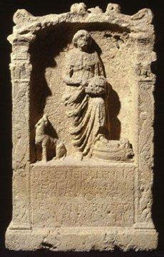 Stele Göttin Nehalenia, Domburg, Walcheren, Holland