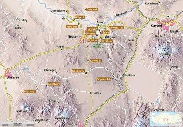 Karte von Kappadokien