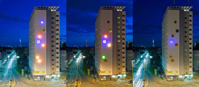 Paul Schwer, Glowing Igloo, Installation