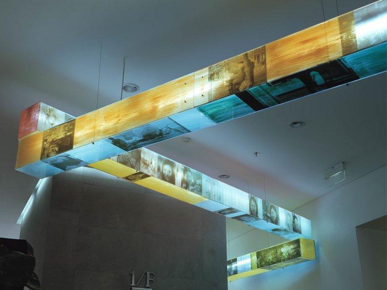 Paul Schwer, Stelen, Installation