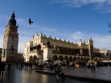 Marktplatz in Krakau, Polen