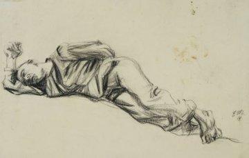 Mataré, Liegender, Zeichnung