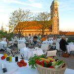 Blue Spa Hotel Bayerischer Hof MŸnchen am 13-07-2005 Barbecue Terrasse