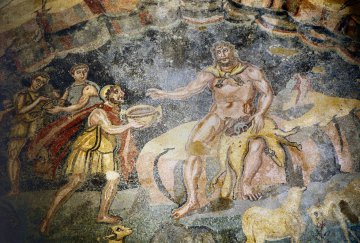 Sizilien - Villa Del Casale - Odysseus und Polyphem