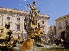 Arethusa und Artemis, Brunnen in Syrakus, Sizilein