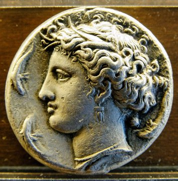 Münze mit Arethusa