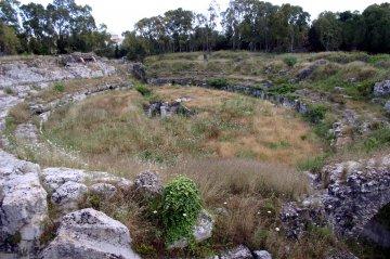 Römisches Amphitheater in Syrakus, Sizilien