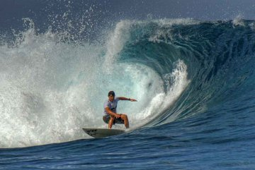 Surfing auf Tahiti