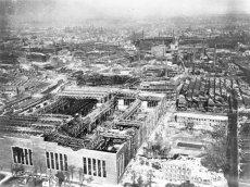 Essen, zerstörte Krupp-Werke, Luftaufnahme