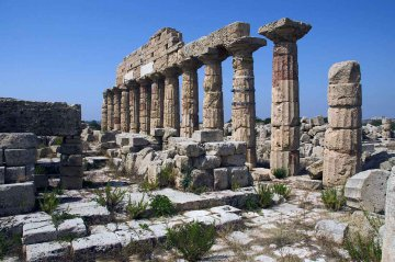 Tempel Selinunt, Sizilien, Italien