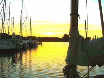 Abendstimmung Segelhafen