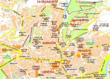 Stadtteile von Granada - Andalusien