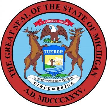 USA - Michigan Wappen