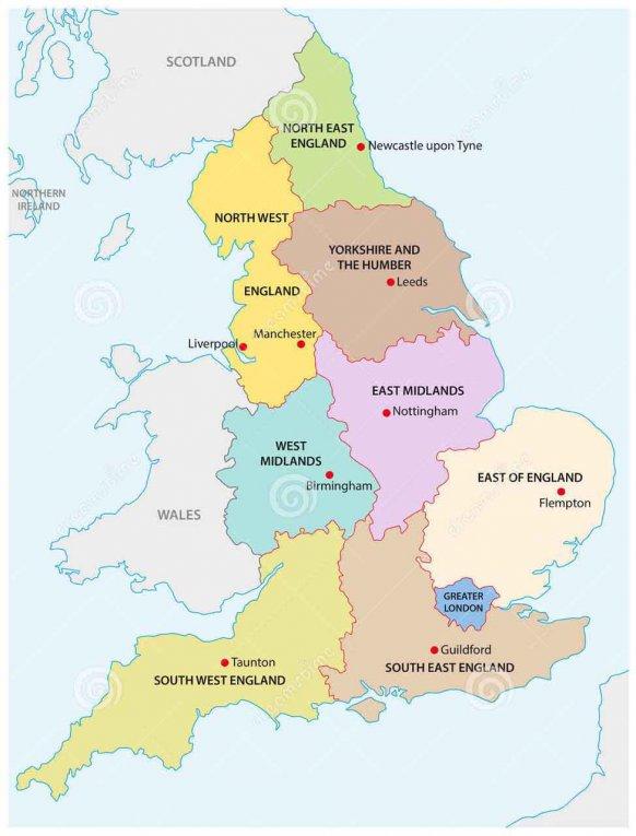 Englands Regionen