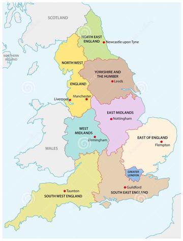 Regionen England