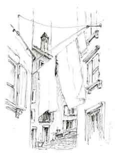 Torsten Paul - Zeichnungen - Altstadtskizze