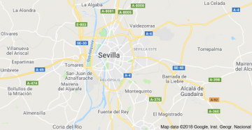 Spanien-Andalusien-Sevilla-Karte