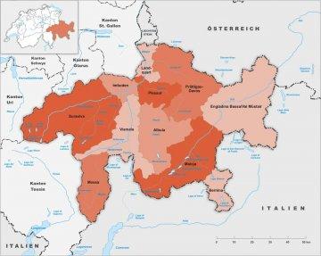 Schweiz - Graubünden - Karte