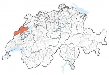 Schweiz - Neuenburg - Karte