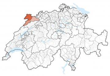 Schweiz - Jura - Karte