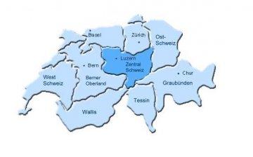 Schweiz - Kantone - Map