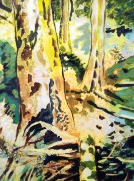 Katrin Roeber - Bachbett, sonnig - Ausschnitt