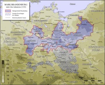 Karte Mark Brandenburg